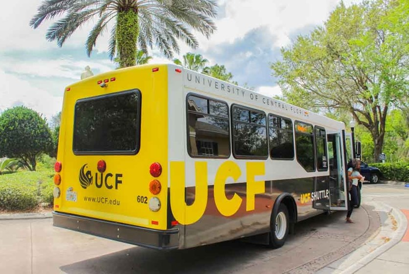 UCF campus shuttle